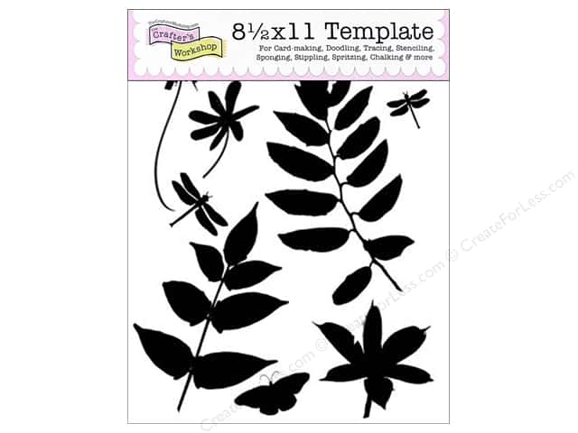 "The Crafter's Workshop Template 8.5""x 11"" Botanicals"