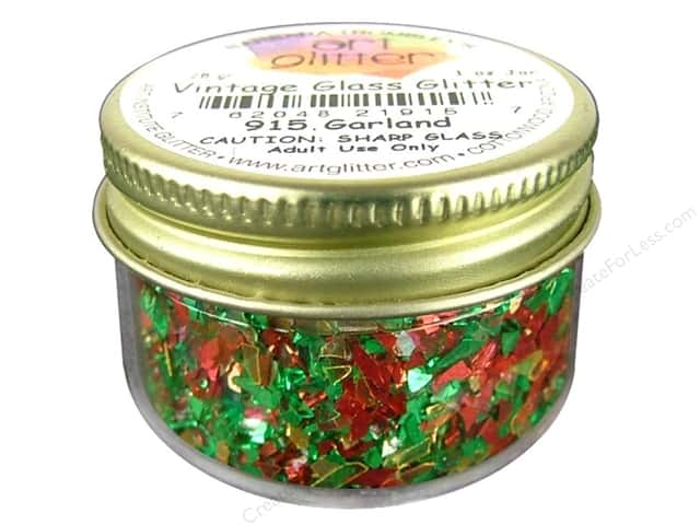 Art Institute Glitter Shards Vintage Glass Glitter 1 oz. Garland