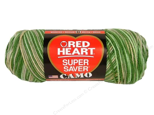 Red Heart Super Saver Yarn #0991 Desert Camo 244 yd.