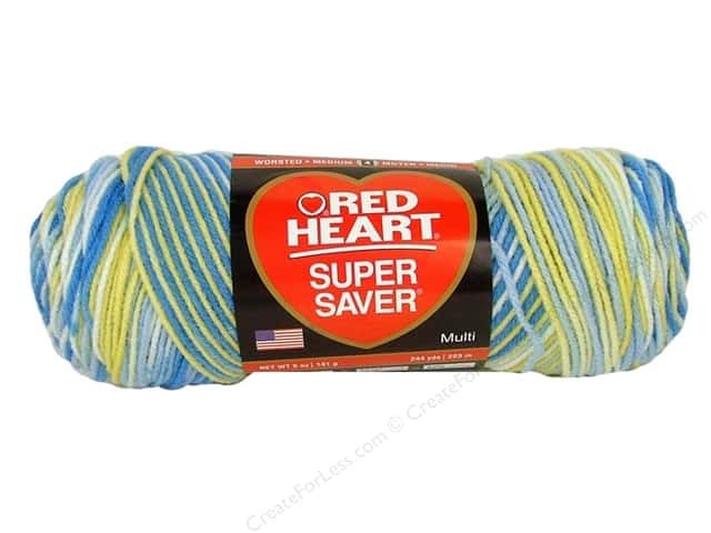 Red Heart Super Saver Yarn #0996 French Country 5 oz.