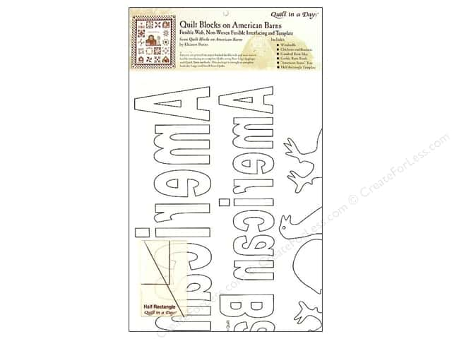 Quilt In A Day Fusible Web/Template American Barns