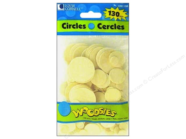 Woodsies Wood Shapes Circles 130 pc.