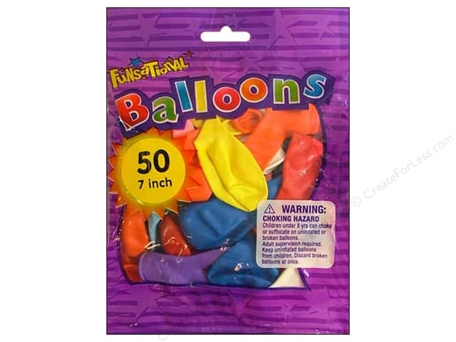 "Pioneer National Latex Balloons Funsational 7"" Assorted 50 pc"