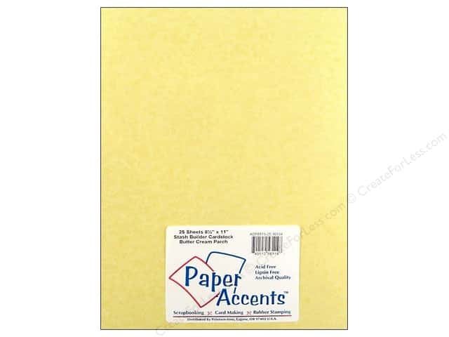 Cardstock 8 1/2 x 11 in. #10134 Stash Builder Butter Cream Parchment by Paper Accents (25 sheets)