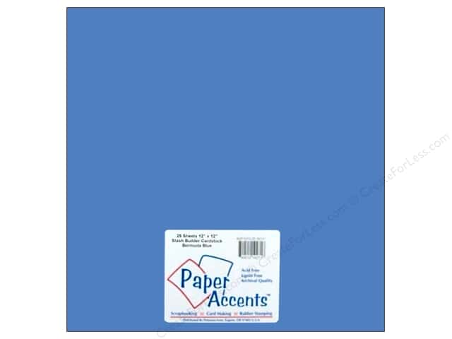 Cardstock 12 x 12 in. #10137 Stash Builder Bermuda Blue by Paper Accents (25 sheets)