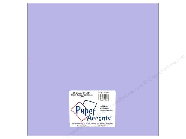 Cardstock 12 x 12 in. #10126 Stash Builder French Lilac by Paper Accents (25 sheets)