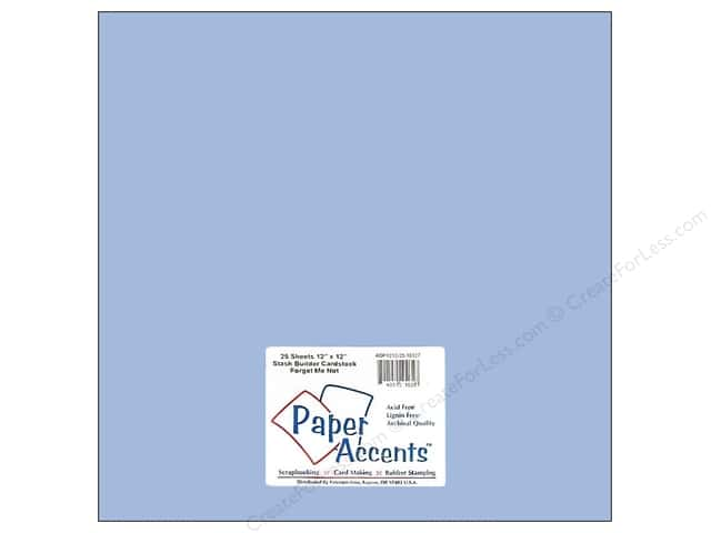 Cardstock 12 x 12 in. #10127 Stash Builder Forget Me Not (25 sheets)