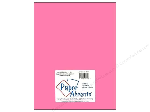 Cardstock 8 1/2 x 11 in. #10124 Stash Builder Pink Hibiscus by Paper Accents (25 sheets)
