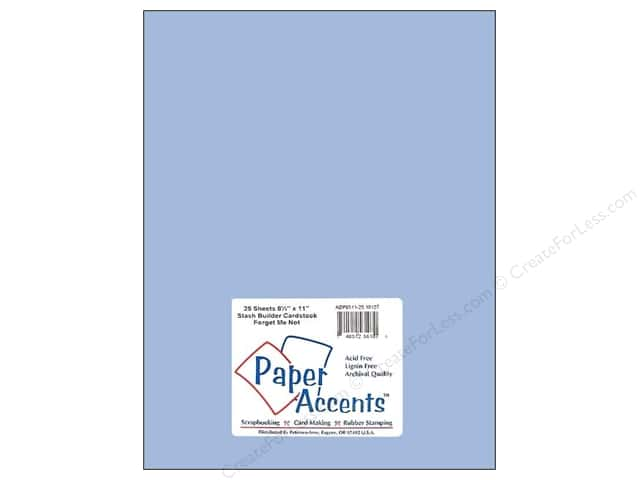 Cardstock 8 1/2 x 11 in. #10127 Stash Builder Forget Me Not by Paper Accents (25 sheets)