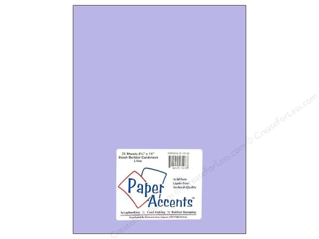 Cardstock 8 1/2 x 11 in. #10126 Stash Builder French Lilac by Paper Accents (25 sheets)