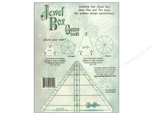 Phillips Fiber Art Rulers Jewel Box Gems 5&10