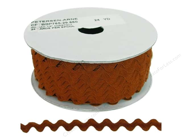 Ric Rac by Cheep Trims  1/2 in. Chestnut (24 yards)