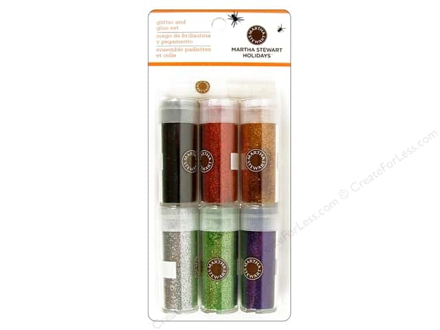 Martha Stewart Glitter Set with Glue Halloween Classic 6pk
