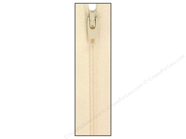 Atkinson Designs Zipper 14 in. Creamy by YKK