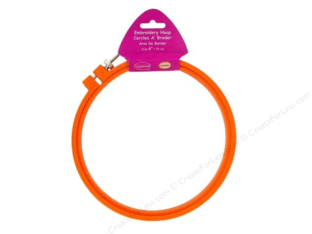 "F.A.Edmunds Plastic Hoop 6"" Orange"