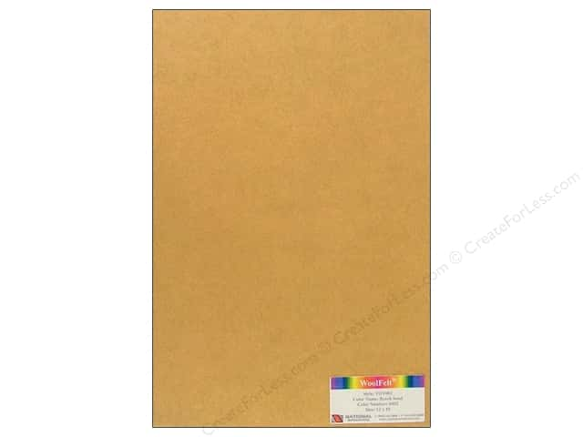 National Nonwovens WoolFelt 12 x 18 in. 35% Beach Sand (12 sheets)