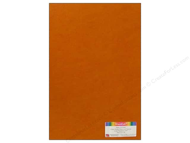 National Nonwovens WoolFelt 12 x 18 in. 35% Butternut Squash (12 sheets)