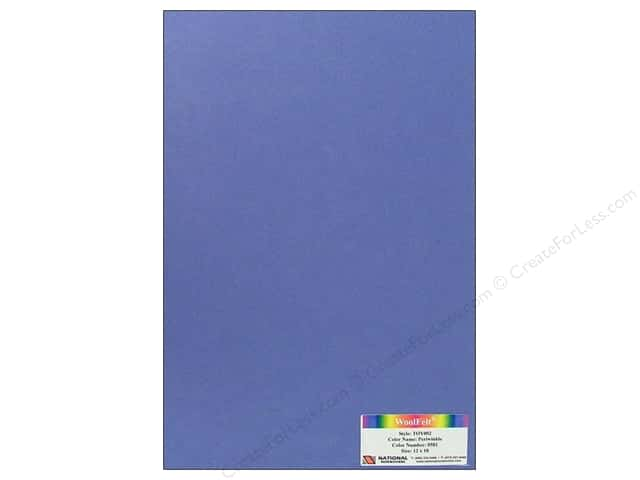 National Nonwovens WoolFelt 12 x 18 in. 35% Periwinkle (12 sheets)