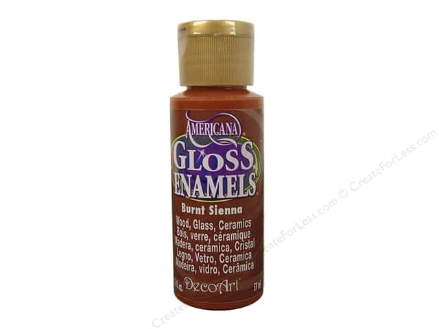 DecoArt Americana Gloss Enamel 2oz Burnt Sienna