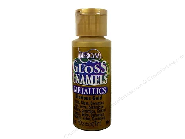 DecoArt Americana Gloss Enamel 2oz Glorious Gold