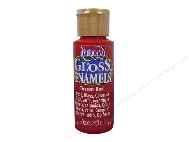 DecoArt Americana Gloss Enamel 2oz Tuscan Red