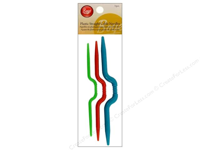 Boye Cable Stitch Needle Plastic 3 pc.