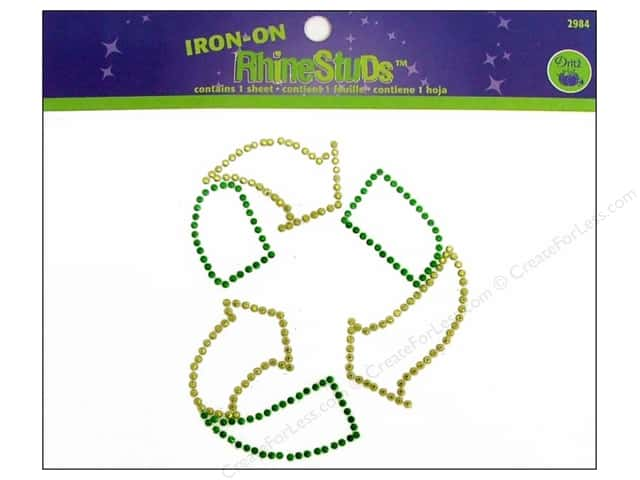 Rhinestuds Iron On by Dritz Medium Recycle Heart