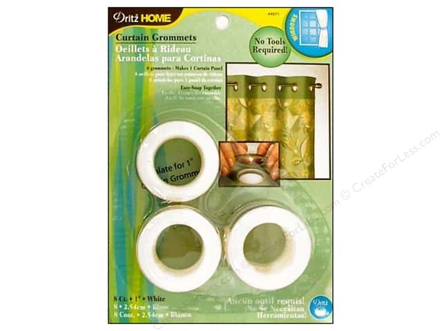 Dritz Home Curtain Grommets 1 in. Round White 8pc
