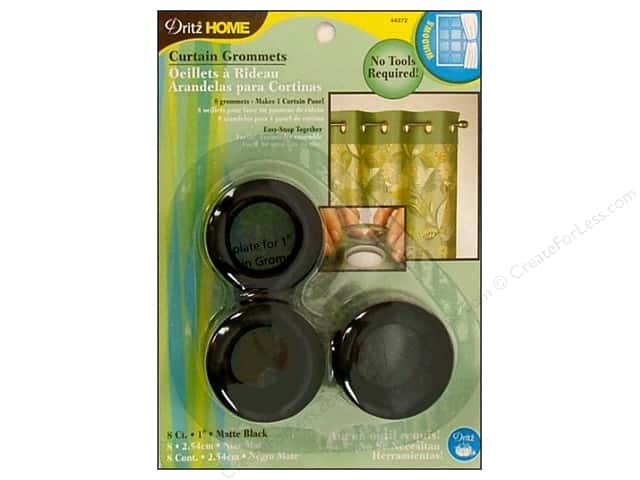 Dritz Home Curtain Grommets Medium 1 in. Round Matte Black 8pc