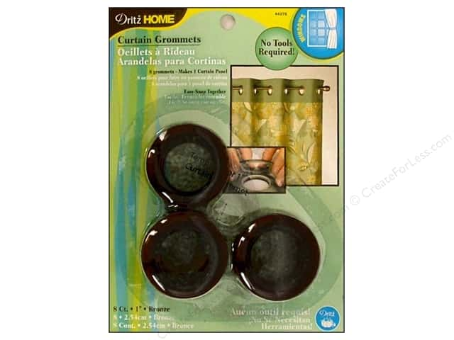 Dritz Home Curtain Grommets Medium 1 in. Round Bronze 8pc