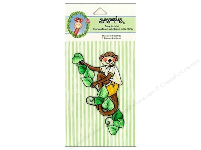 Bazooples Iron-On Appliques Max In Pajamas