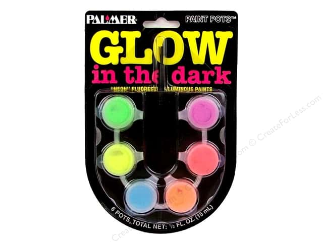 Palmer Prism Glow in the Dark Acrylic Paint Set 6 Pot Mini