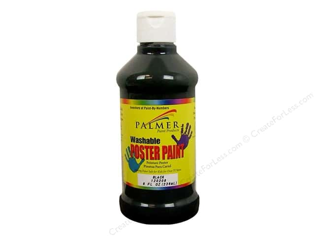 Palmer Washable Poster Paint 8oz Black