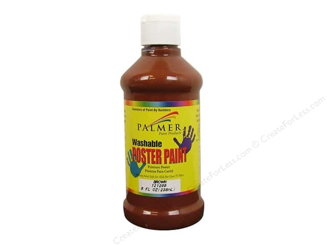Palmer Washable Poster Paint 8oz Brown