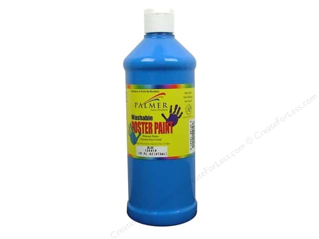 Palmer Washable Poster Paint 16oz Blue