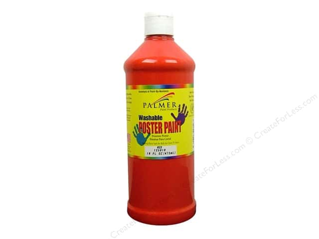 Palmer Washable Poster Paint 16oz Red