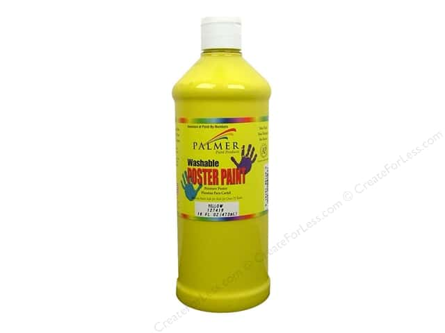 Palmer Washable Poster Paint 16oz Yellow