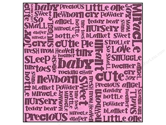 Bazzill Cardstock 12x12 15pc Glazed Baby Word Girl Fussy UPC