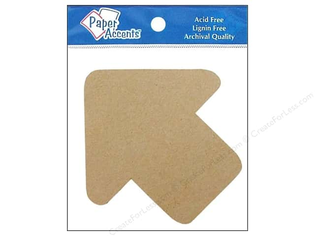 Paper Accents Chipboard Shape Arrow 8 pc. Kraft
