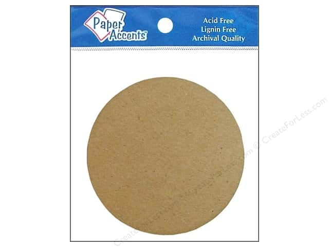 Paper Accents Chip Shape Circle Natural 8pc