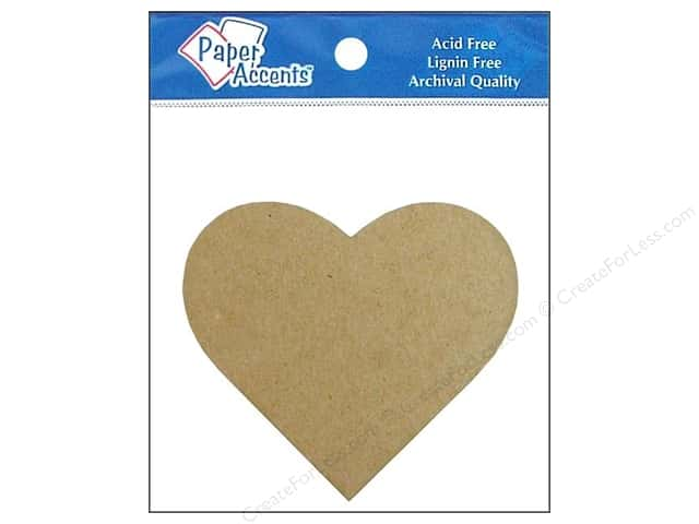 Paper Accents Chip Shape Heart Natural 8pc