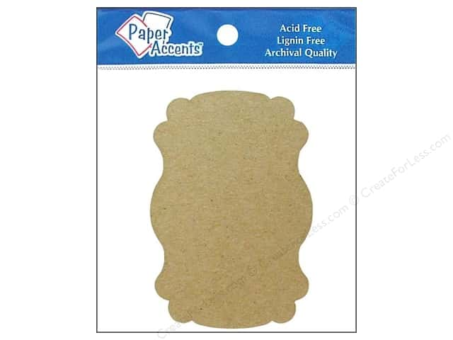 Paper Accents Chipboard Shape Marquee #1 8 pc. Kraft