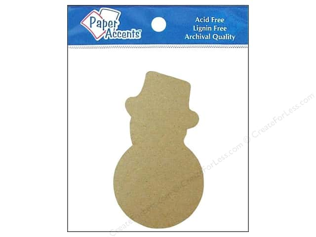 Paper Accents Chipboard Shape Snowman 8 pc. Kraft