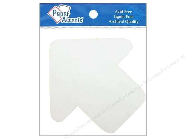 Paper Accents Chipboard Shape Arrow 8 pc. White