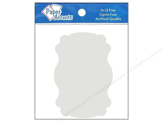 Paper Accents Chip Shape Marquee White 8pc