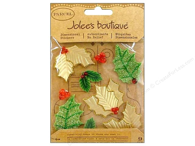 Jolee's Boutique Stickers Berries & Holly Stamens