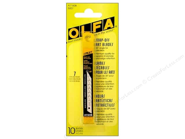 Olfa Knife Snap-Off Art Blade For Utility A 9mm 10pc