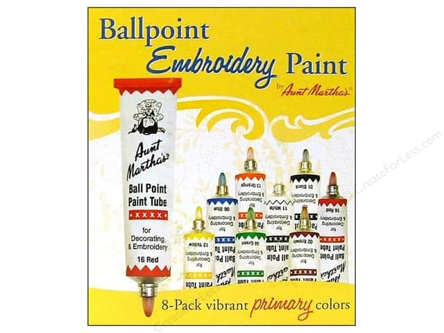 Aunt Martha's Ball Point Tube Paint Set 8-Pac
