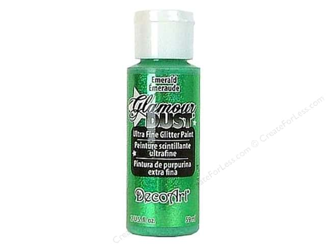 DecoArt Glamour Dust 2oz Emerald