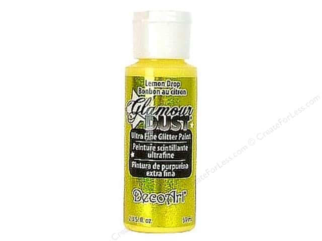 DecoArt Glamour Dust 2oz Lemon Drop